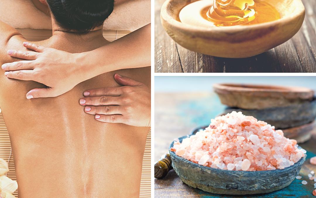 Masaż peelingujący… solny czy miodem?